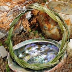 sweetgrass and shell bowl
